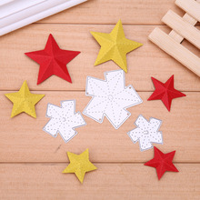 3pcs/Set 3D Star Metal Cutting Dies Stencil for DIY Scrapbooking Xmas Paper Card Photo Album Decoration Craft Embossing Die Cuts