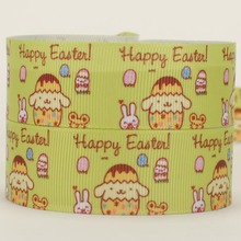 NEW 50 yards happy easter dog ribbon printed grosgrain bows and ribbons free shipping