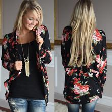 Elegant Lace Women Flower Print Chiffon Blouse Shirt Fashion Floral Chiffon Kimono Women Cardigan