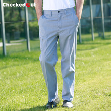 food service 2017 new fashion white and black checked chef pants for men hotel restaurant kithen cook pants(China)