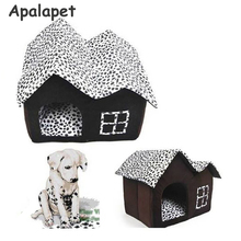 Indoor Pet House Double Room Dog Kennel Pet Puppy Cat Bed Winter Warm Dog House For Small And Medium Dogs
