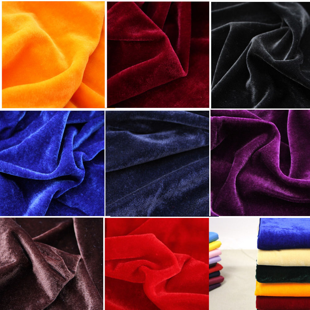 Curtains Thick Velvet Fabric Craft Background DIY Polyester Tablecloths 1.6*1m
