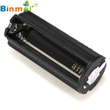 HL Black Cylindrical 3 AAA Plastic Battery Holder Adapter Case Box Flashlight Lamp May 23(China)