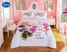 Cute Pink Disney Minnie Mouse Cartoon Print Bedding Set for Girl's Bedroom Decor Cotton Bedclothes Duvet Cover Single Twin queen