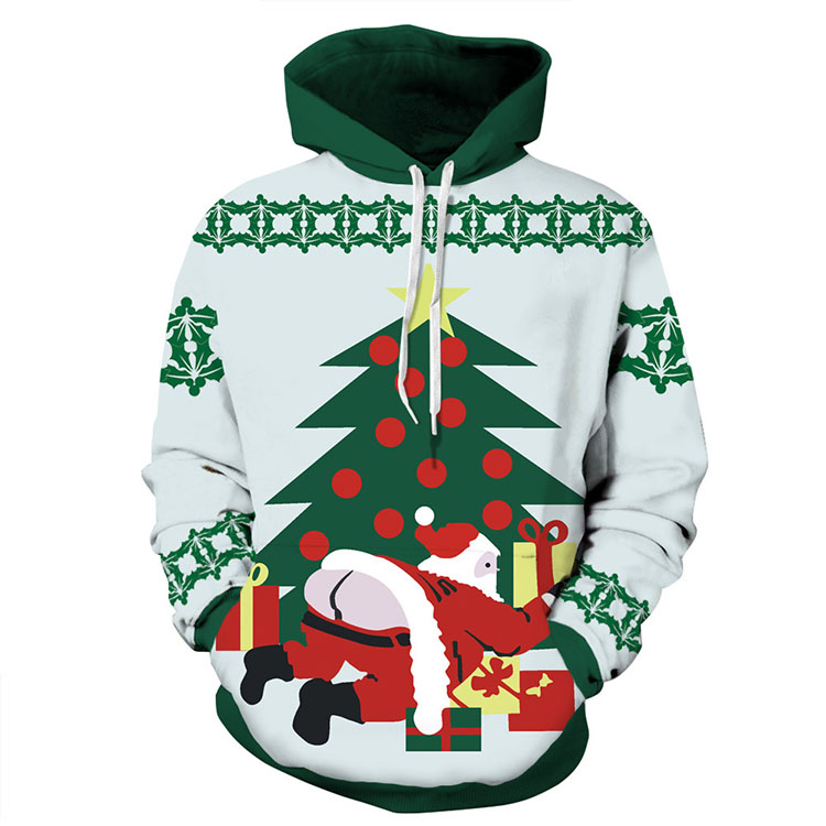 Aolamegs Men Women Chirstmas series Hoodies Couples Hooded Sweatshirts Funny 3D printing Pullovers Christmas Casual Tops Clothes (6)
