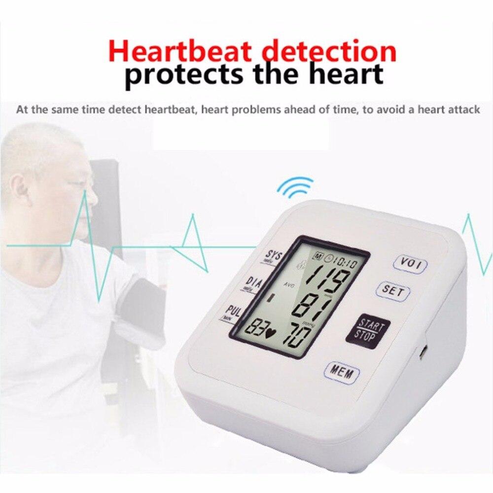 Arm Type Rechargeable Voice Tonometer Smart Digital Pulse Blood Pressure Monitor Health Care Household Sphygmomanometer 11