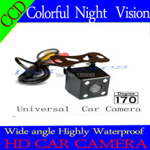 Rear view camera ccd/ CCD Night color car reversing video system for universal camera front /rear carmera Angle adjustable(China)