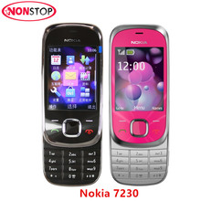 Original Unlocked Nokia 7230 3G mobile phone 3.2MP Camera Bluetooth FM JAVA MP3 cheap cell phone mobile phone Free Shipping