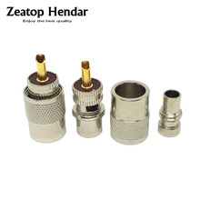 10Pcs UHF PL-259 Male Solder RF Connector Plug For RG8 Coaxial Cable Adapter Gold Pin(China)