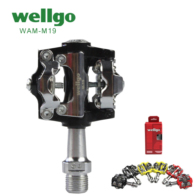 Pedal SPD WELLGO W-01 Double Sided Black//Silver
