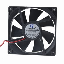 1Pcs Gdstime 9225 DC 12V 2Pin 92mm x 25mm Brushless Cooling CPU Cooler Fan(China)
