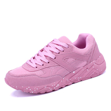 Walking Shoes For Women Spring/Summer Girls Athletic Shoes Comfortable Ladies Runners Trainers Cheap Mesh Running For Women(China)