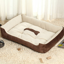 5 Size Small Large Breed Soft Dog Bed Sofa Mat House Cot Pet Keep Warm Bed House For Medium Large Dogs Pet Supplies Top Quality(China)