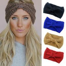 2017 Newest Winter Bowknot Knit Hairband Warm Wool Headband Girls Stretch Turban Cap Hat