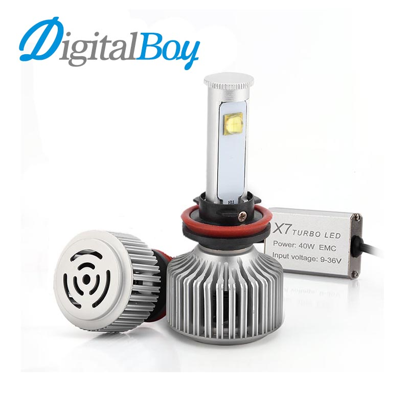 Digitalboy H8/H9/H11 LED Headlight Car 7200LM 80W Headlamp Bulb 6000K Car LED Conversion Kit Automobile Front Light Easy Install<br><br>Aliexpress