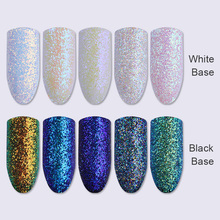 1g 1 Box Shinning Nail Glitter Powder Dust Chrome Pigment Glitters for Nail Art Decoration 5 Colors Available(China)