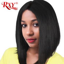 "Buy RXY Short Bob Wigs 150% Density Lace Front Human Hair Wigs Black Women 12""x6"" Brazilian Straight Lace Wig Non Remy Hair for $76.20 in AliExpress store"