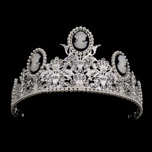 New Baroque Bride Tiaras For Woman Wedding Bride High Quality Crown Girl Headdress Crown Wedding Hair Ornaments Free shipping(China)