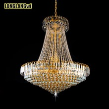 Free Shipping HOT Royal Empire Golden LED modern Crystal Chandeliers Light French(China)