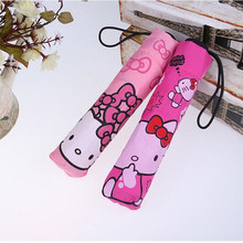 Free Shipping Kids lovely Cartoon Hello Kitty children anime umbrella for kids girl cute umbrella baby white umbrella