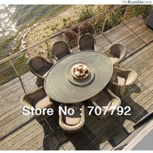 2017 outdoor restaurant furniture rattan dining sets table and chairs for sale(China)