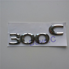 Car 300 C 300C Emblem Custom ABS Chrome 3D Letter Badge Rear Trunk Sticker New Style Nameplate Decal