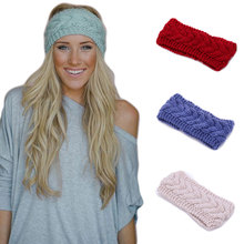 Fashion Women Headbands Winter knit Headwraps Lady girls warm hair elastic wide turban Female Weave Hair Accessories 1pc WH232