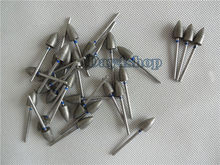 10pcs Dental Lab Assorted Diamond Burs Millers Tooth Drill Jewelers Free ship(China)