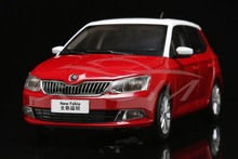 Diecast Car Model 1:18 Shanghai Volkswagen Skoda New Fabia 2015 (Red) + SMALL GIFT!!!!!