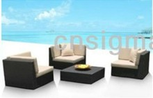 2017 Living room furniture Rattan furniture sectional sofas corner furniture Sofa(China)
