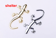 free shipping 1PC  House lizard 3D car pure metal car modified car scratch stickers labeling personality jewelry supermarket