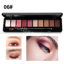 Naked Eyeshadow Palette Nude Makeup Earth Color High Pigment Glitter Smoky Eye Shadow Set With Mirror+Brush