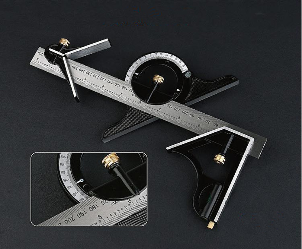 12 Tri- Square Ruler Combination tools for woodworking multi-angle Square Steel Machinist Measuring Angle Tool Ruler<br><br>Aliexpress