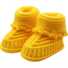 Baby Boots Toddler Newborn Baby Knitting Lace Crochet Shoes Buckle Handcraft Shoes Calcados Infantil Drop shipping#X30