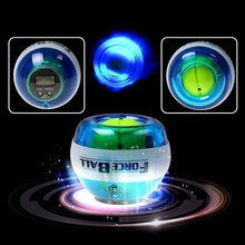 Gyroscope PowerBall Gyro Power Ball Wrist Arm Exercise Strengthener LED Force Ball with Speed Meter Counter 12000 RPM