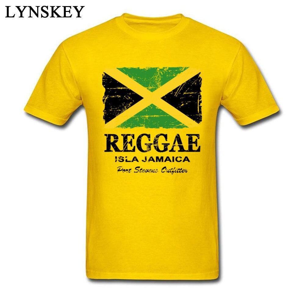 T-Shirt Normal Short Sleeve Funny Crew Neck 100% Cotton Tops T Shirt Group Summer Fall Reggae Jamaica Flag Tee Shirt for Boys Reggae Jamaica Flag yellow