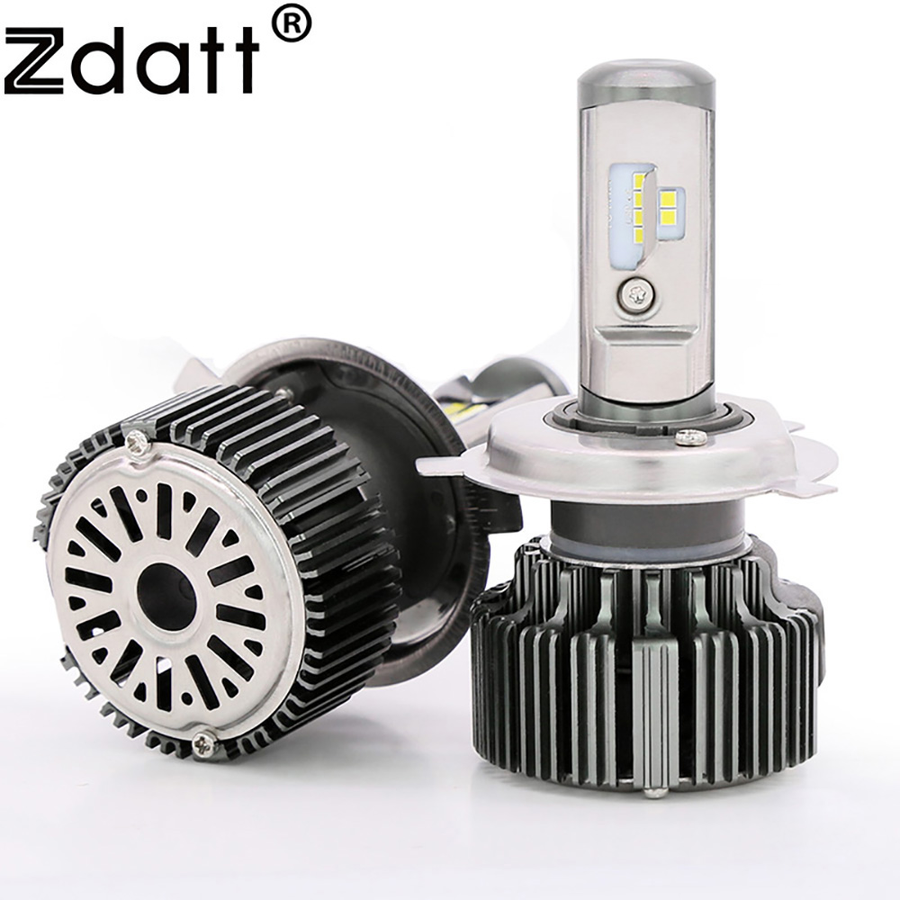 Zdatt 2Pcs Super Bright H4 Led Bulb Canbus 80W 8000Lm Headlights H1 H3 H7 H8 H9 H11 Car Led Light 12V Fog Lamp Automobiles<br>