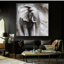 Wildlife Animal Elephant Painting Canvas Print Plus 50% Oil Painting Home Decor Picture For Bedroom Industrial Loft Livingroom(China)