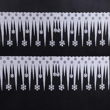 2 Pcs/pack Foam White Ice Strip Range Icicle Snowflake Pendant Decorations Merry Christmas Ornaments Snow Window Wall Decor