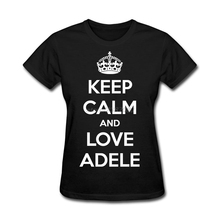 Tee Shirts Young Keep Calm And Love Adele O Neck Great T Shirt Young O Neck Classical T Shirt