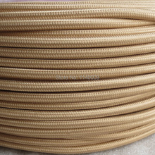 10 meters 2 wire 0.75mm2 Textile Electrical Wire Color Braided Wire Fabric Covered Electrical Power Cord Cable