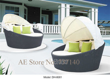 outdoor metal bed rattan bed with tent outdoor furniture beach furniture wholesale price quality control