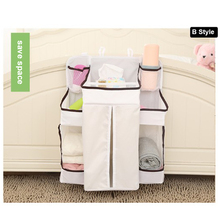 Buy 2 Size Baby Crib Bed Bumper Hanging Storage Bag Portable Diaper bottle Pocket Nylon Storage Bags Newborn Crib Bedding Set for $14.46 in AliExpress store
