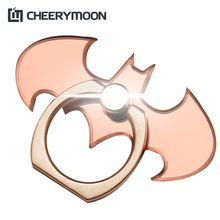 CHEERYMOON Bat Simple Series Metal Universal Mobile Phone Ring Holder Smartphone Tablet Phone Finger Grip Stand For iPhone 8 X(China)