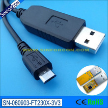 80cm ftdi ft230x usb uart ttl to micro usb mobile phone flash upgrade download cable