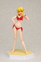 2017 Japanese Anime Action Figure Red Swimsuit Saber Nero Claudius Pvc Figure Cartoon Hot Toys 16cm Toys Kid Gift Free Shipping