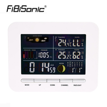 Digital Home Wireless Weather Station Table&Desktop Calendar Alarm Clock With IN/OUT Temperature Thermometer+Humidity Hygrometer(China)