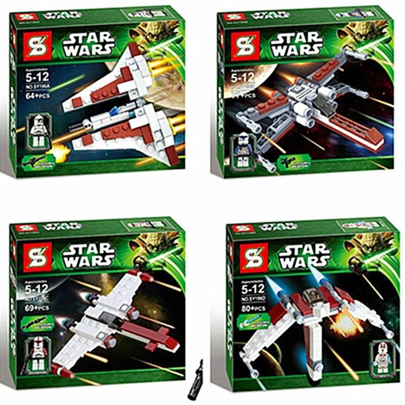 4pcs/lot 2016 Best Children Gift 4pcs/lot Educational DIY Building Blocks Star Wars Set Series SY196 Minifigures Christmas Gifts<br><br>Aliexpress