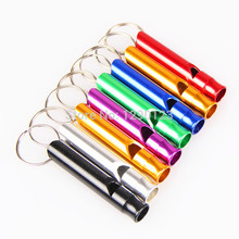 6 Colors Available Aluminium Alloy Pet Puppy Dog Animal Training Obedience Sound Whistle Supplies Free Shipping(China)