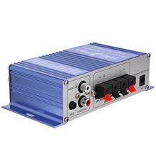 HY-2002 Amplifier 12V Mini Hi-Fi Auto Car Stereo Power Amplifier Sound Mode Audio Music Support CD DVD MP3 for Motorcycle Home